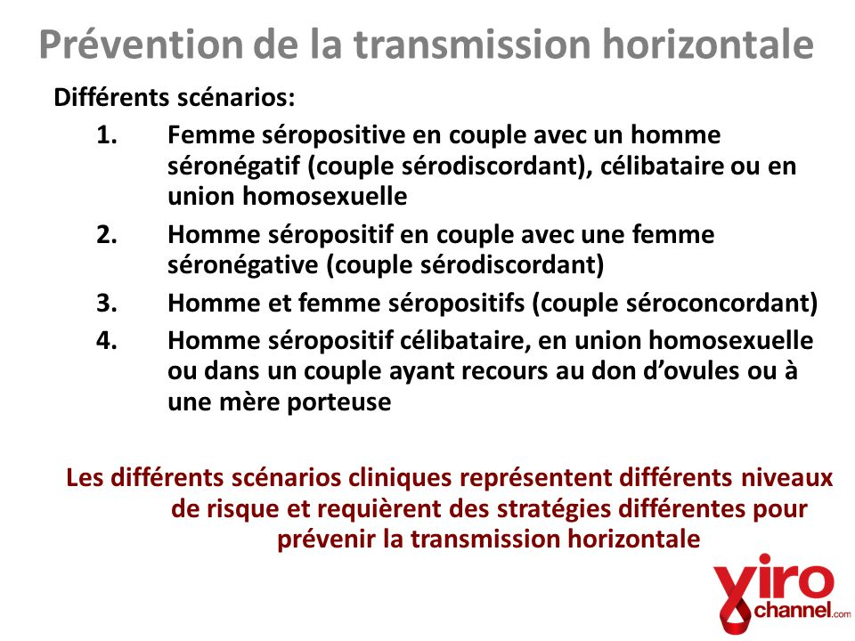 Prévention de la transmission horizontale