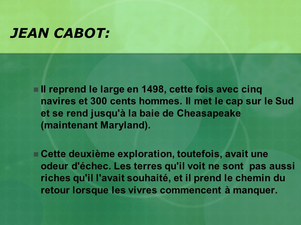 JEAN CABOT: