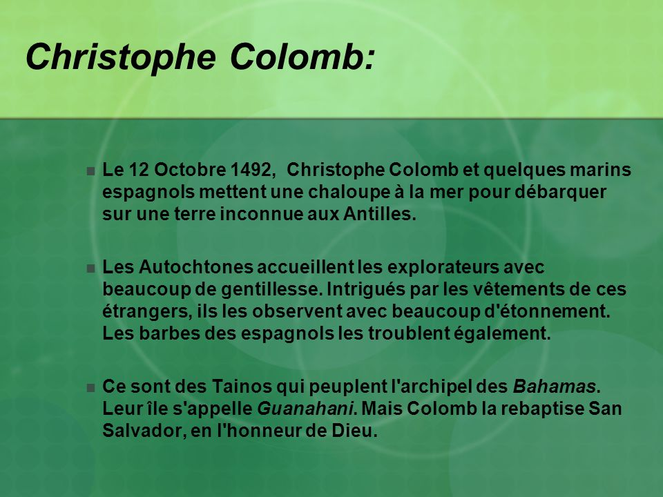 Christophe Colomb:
