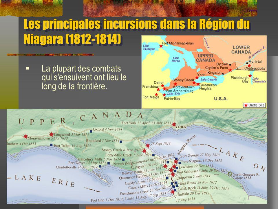 Les principales incursions dans la Région du Niagara (1812-1814)
