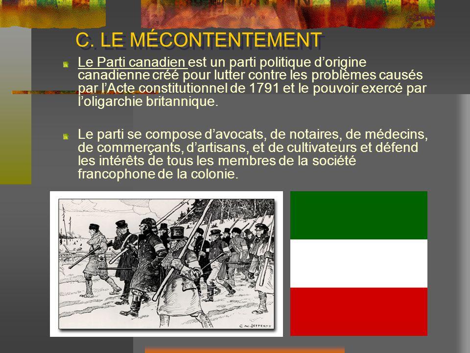 C. LE MÉCONTENTEMENT