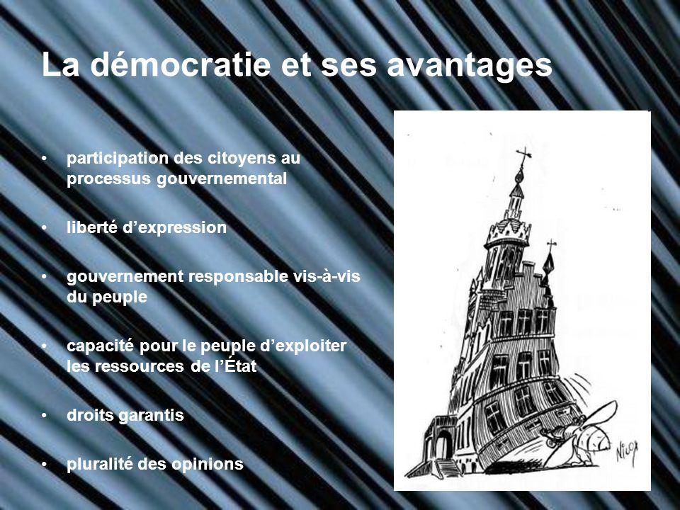 La démocratie et ses avantages