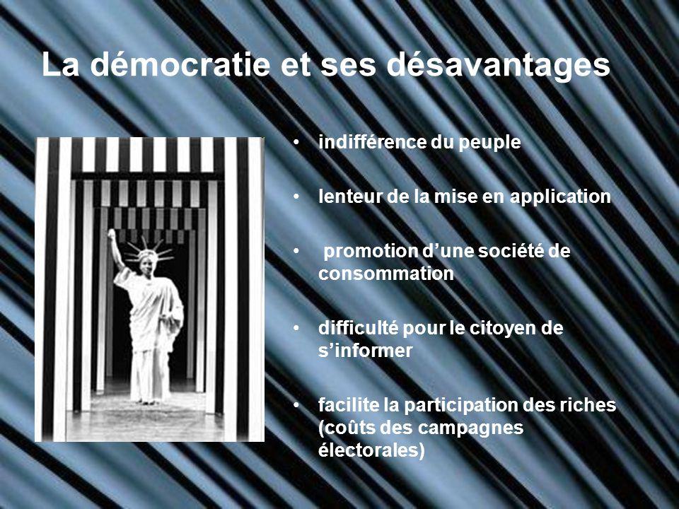 La démocratie et ses désavantages