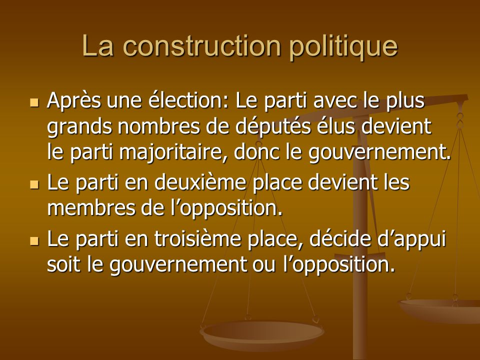 La construction politique