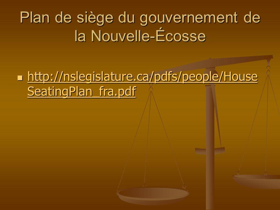 Plan de siège du gouvernement de la Nouvelle-Écosse