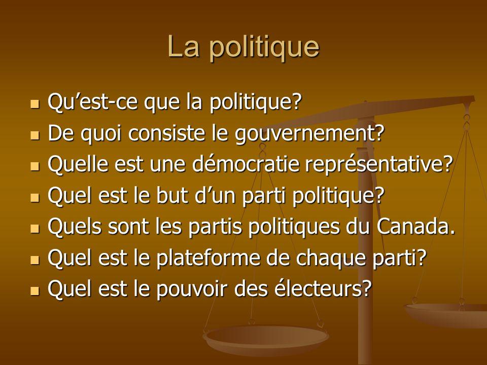 La politique Qu'est-ce que la politique