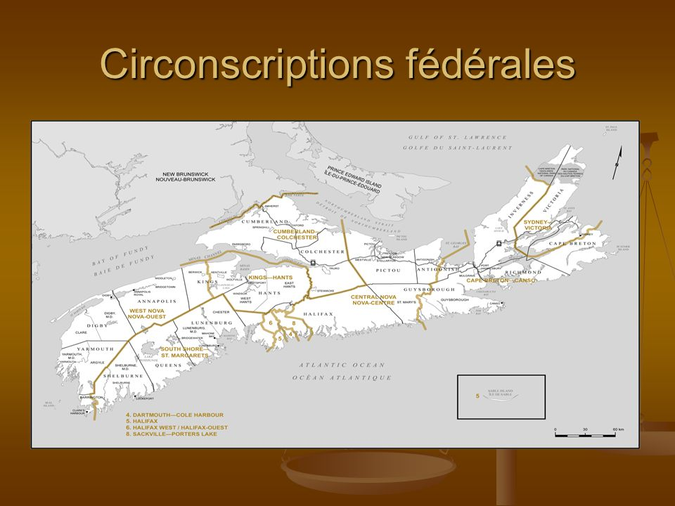Circonscriptions fédérales