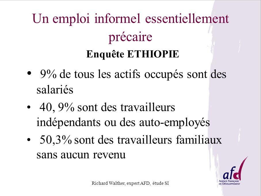 Un emploi informel essentiellement précaire