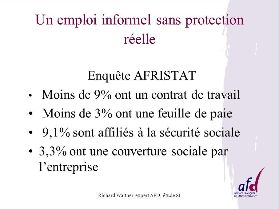 Un emploi informel sans protection réelle