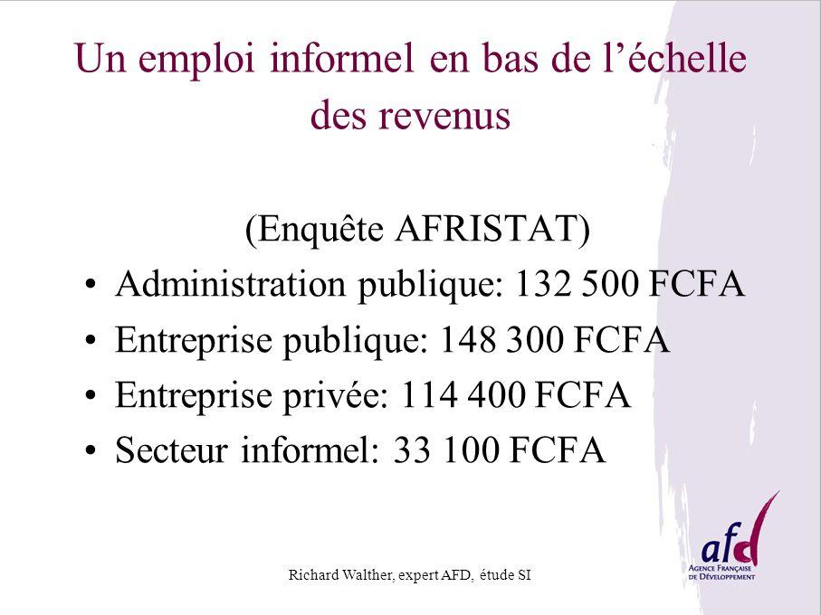 Un emploi informel en bas de l'échelle des revenus