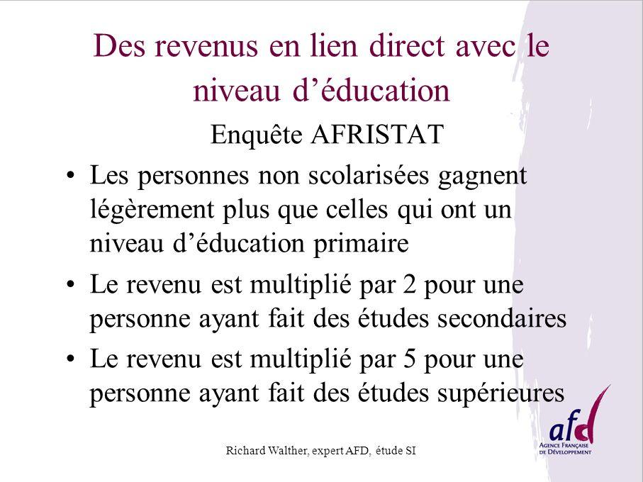 Des revenus en lien direct avec le niveau d'éducation