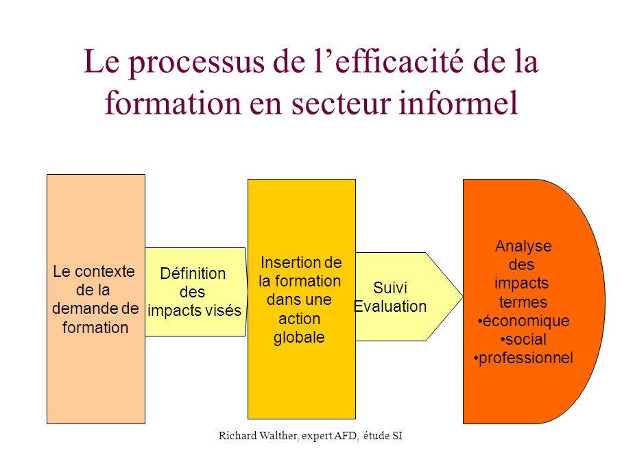 Le processus de l'efficacité de la formation en secteur informel