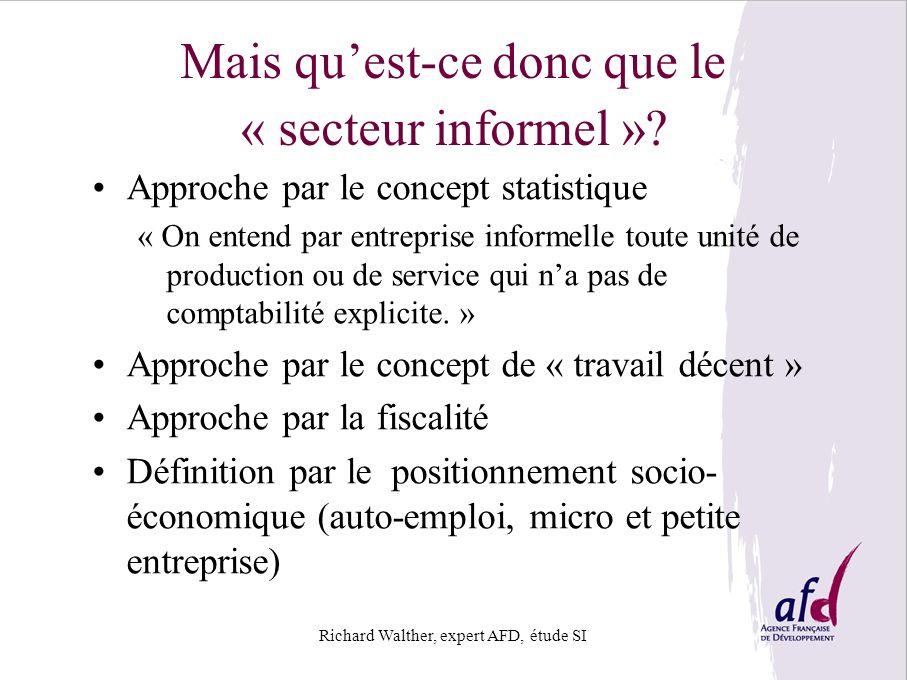 Mais qu'est-ce donc que le « secteur informel »