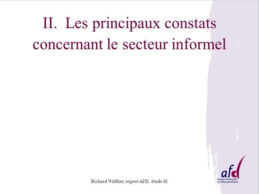 II. Les principaux constats concernant le secteur informel