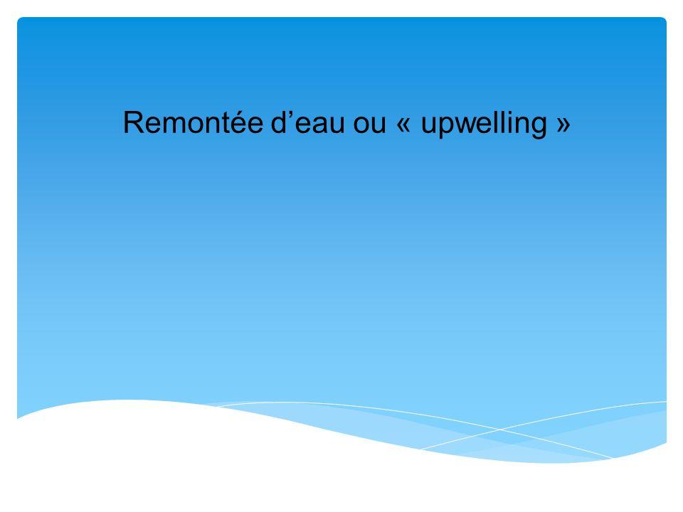 Remontée d'eau ou « upwelling »