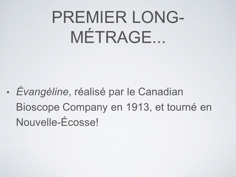 PREMIER LONG-MÉTRAGE...
