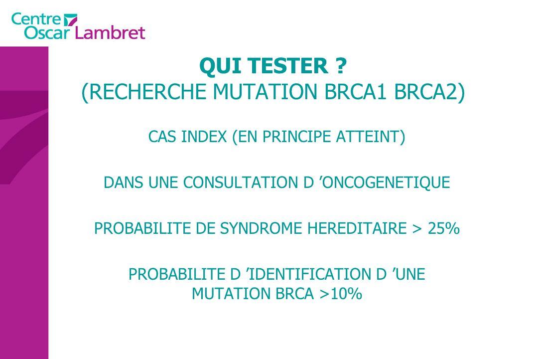 QUI TESTER (RECHERCHE MUTATION BRCA1 BRCA2)