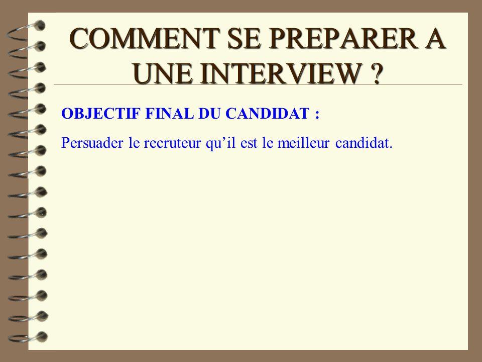 COMMENT SE PREPARER A UNE INTERVIEW