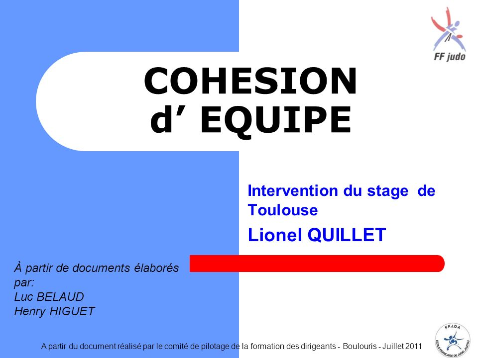 Intervention du stage de Toulouse Lionel QUILLET