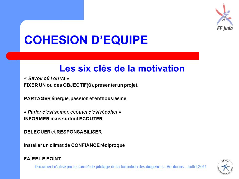 Les six clés de la motivation