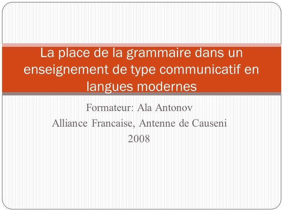 Formateur: Ala Antonov Alliance Francaise, Antenne de Causeni 2008
