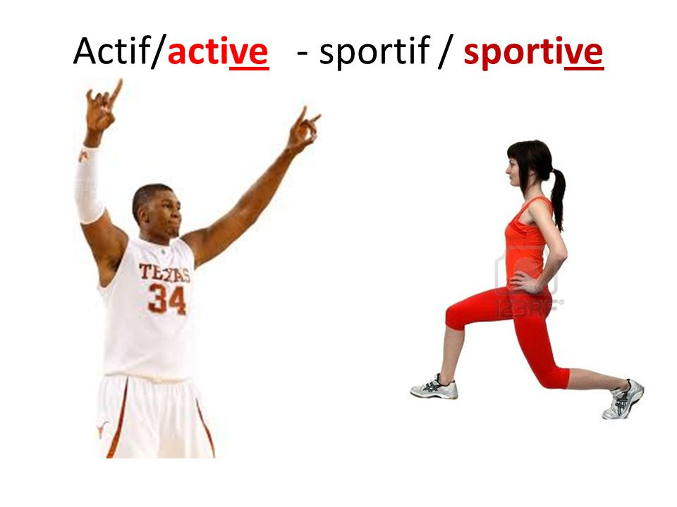 Actif/active - sportif / sportive