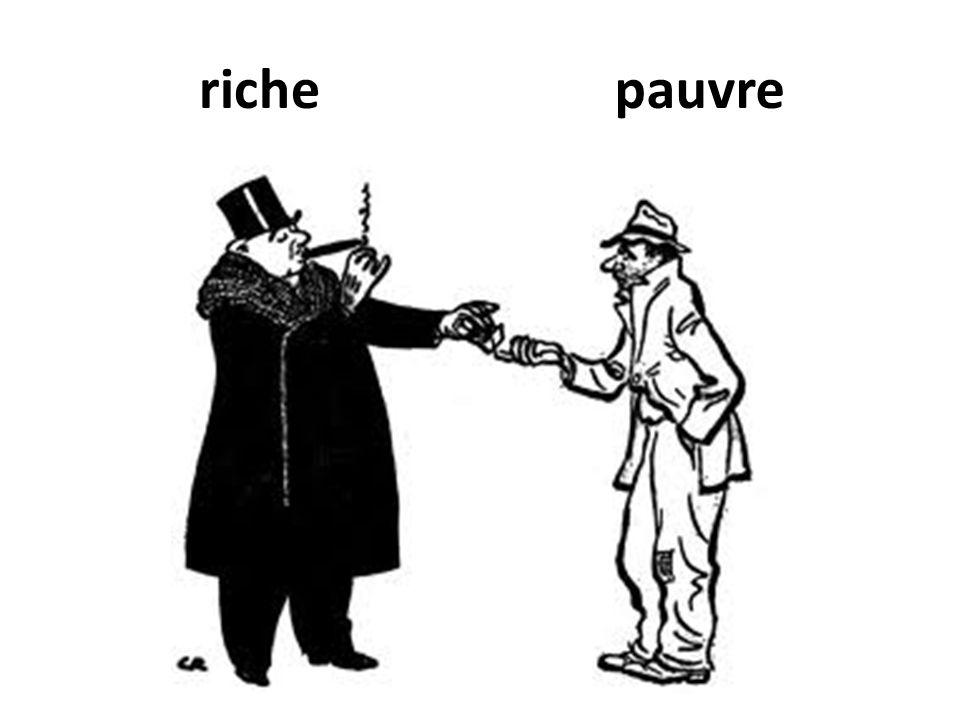 riche pauvre