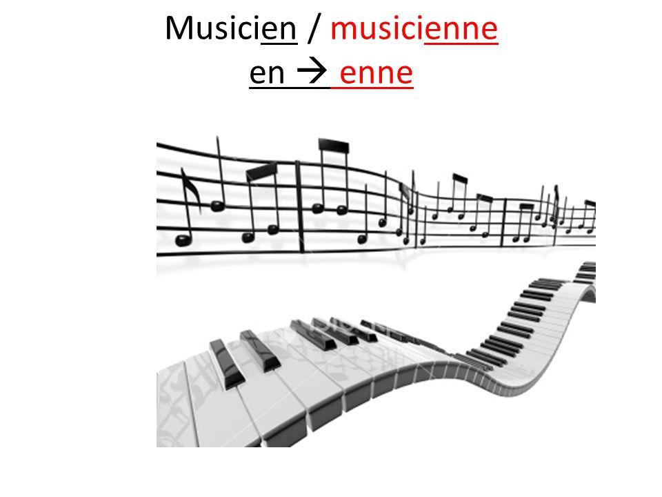 Musicien / musicienne en  enne