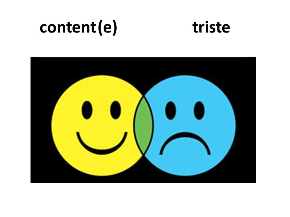 content (e) triste