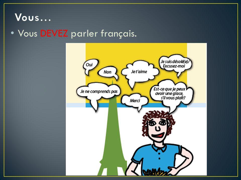 Vous… Vous DEVEZ parler français.