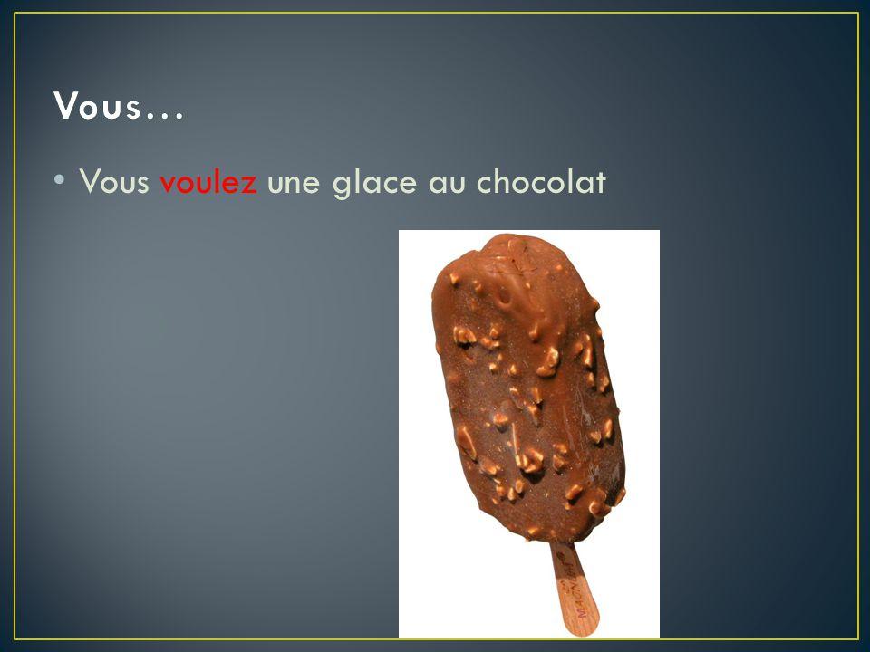 Vous… Vous voulez une glace au chocolat