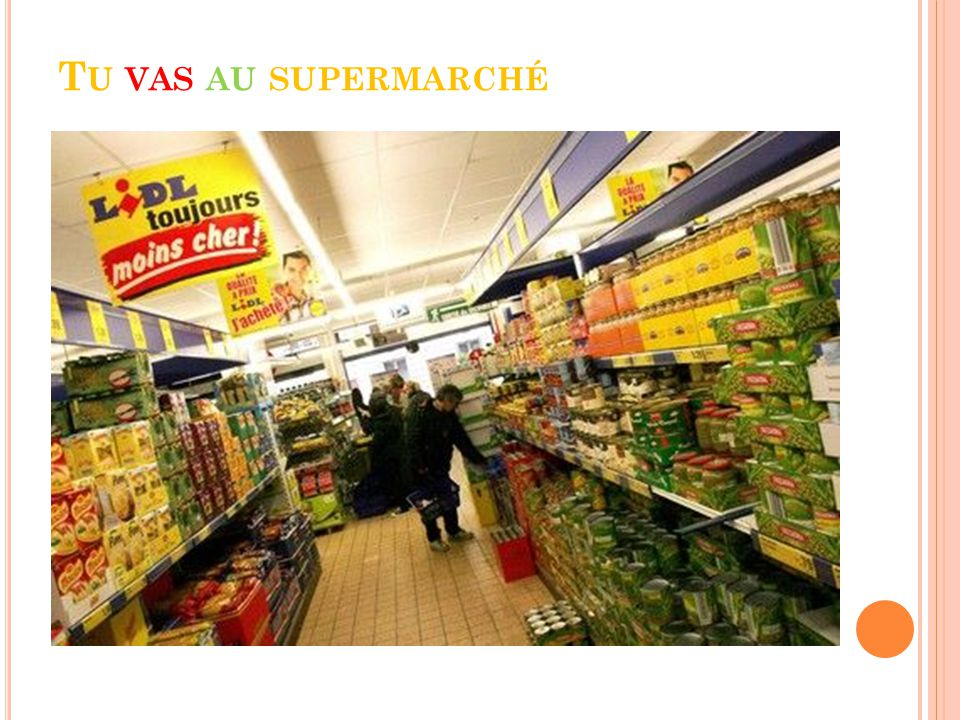Tu vas au supermarchÉ