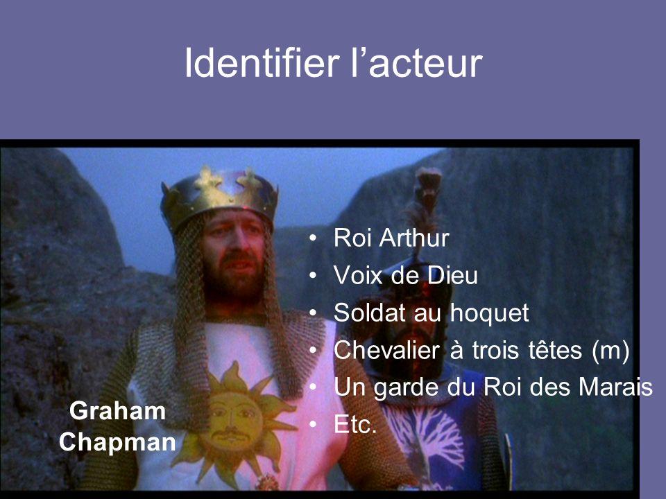 Identifier l'acteur Roi Arthur Voix de Dieu Soldat au hoquet