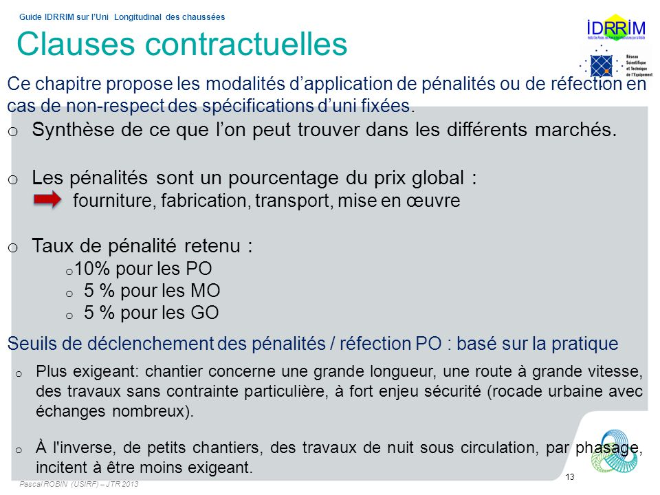 Clauses contractuelles