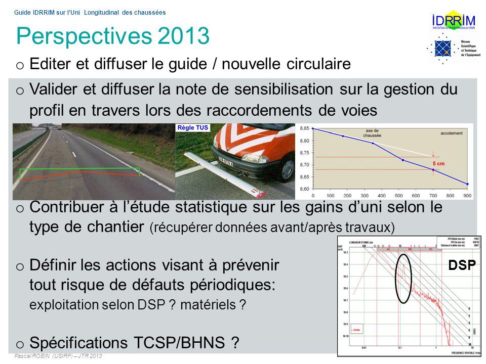 Perspectives 2013 Editer et diffuser le guide / nouvelle circulaire