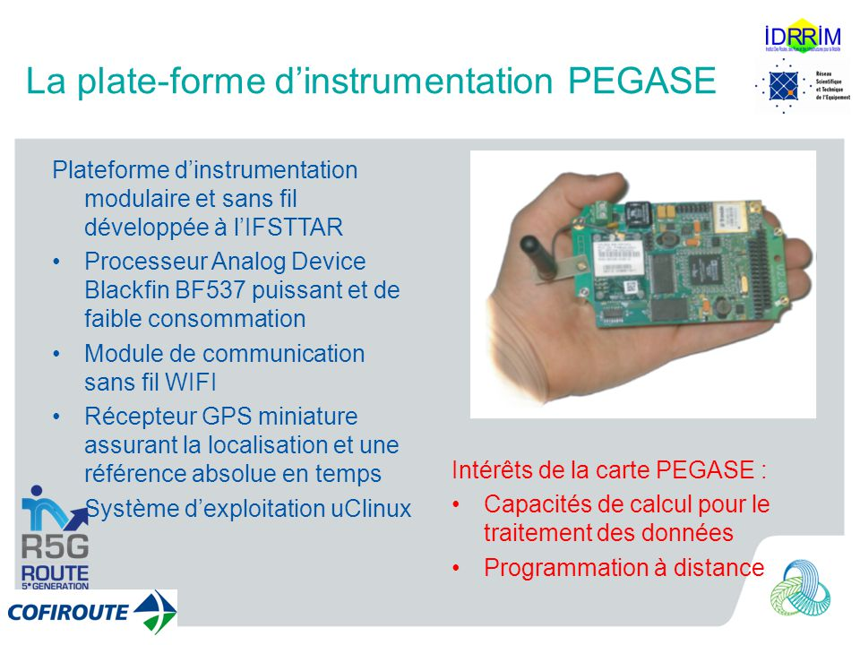 La plate-forme d'instrumentation PEGASE