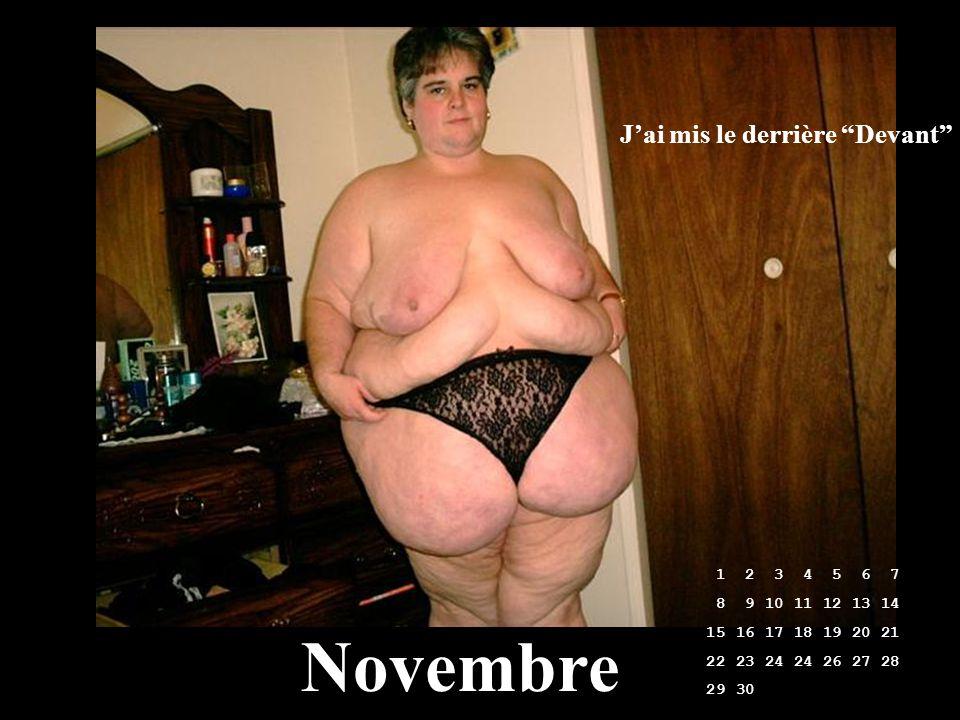 Novembre J'ai mis le derrière Devant 1 2 3 4 5 6 7