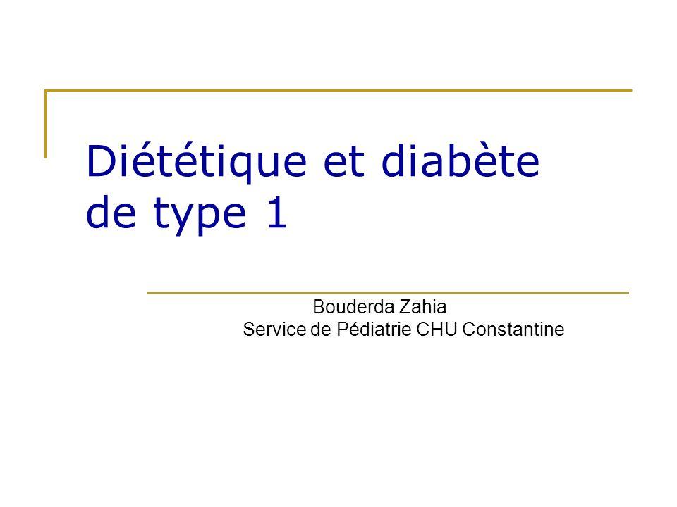 Diététique et diabète de type 1
