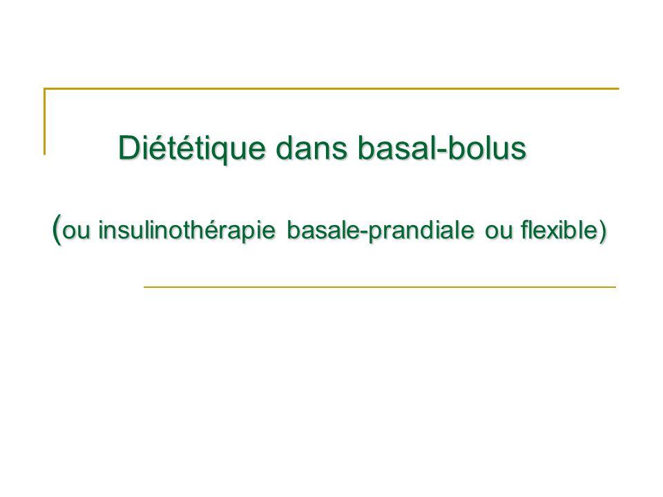 Diététique dans basal-bolus (ou insulinothérapie basale-prandiale ou flexible)