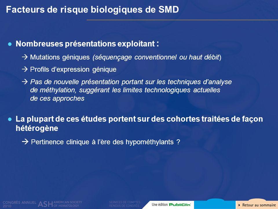 Facteurs de risque biologiques de SMD