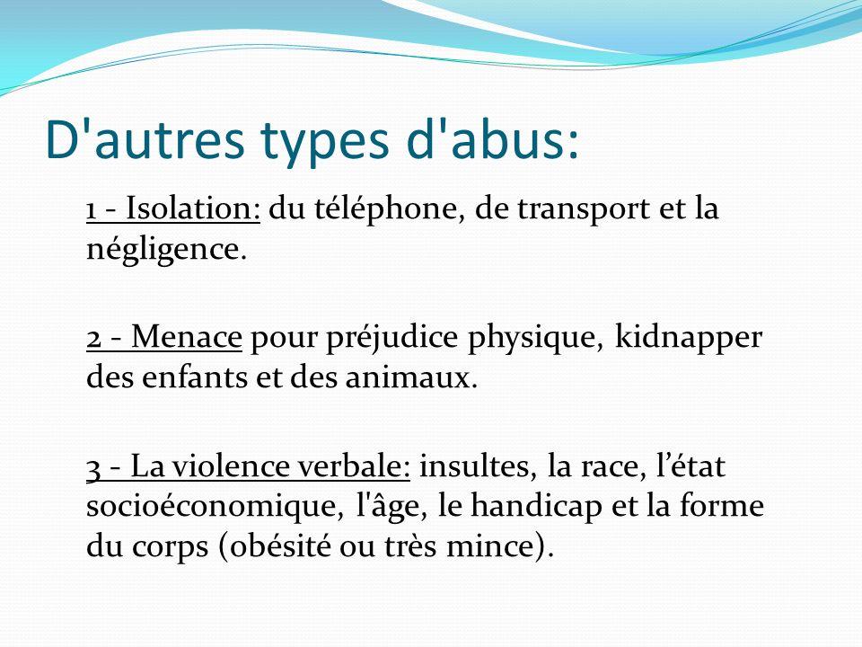 D autres types d abus: