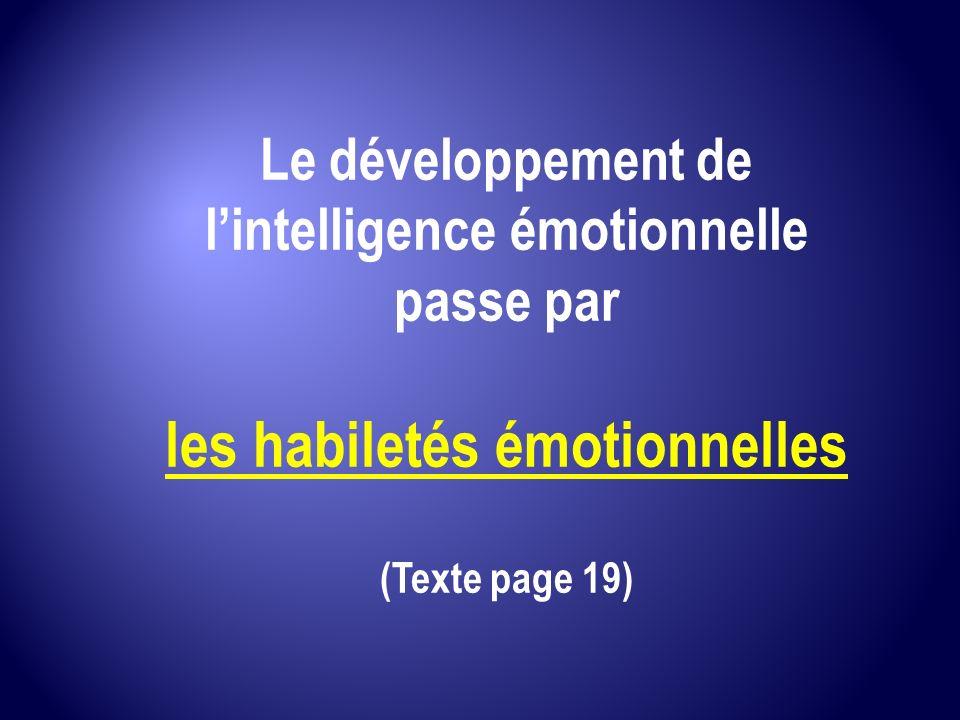 les habiletés émotionnelles