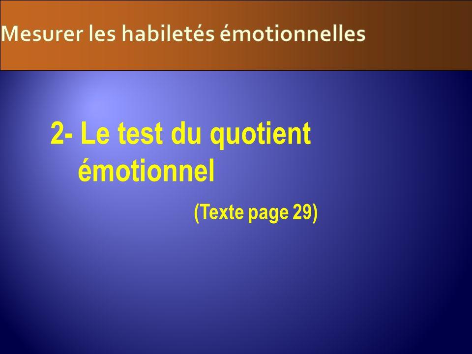 Mesurer les habiletés émotionnelles