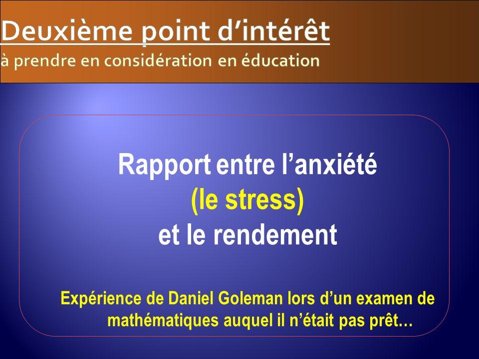 Deuxième point d'intérêt à prendre en considération en éducation