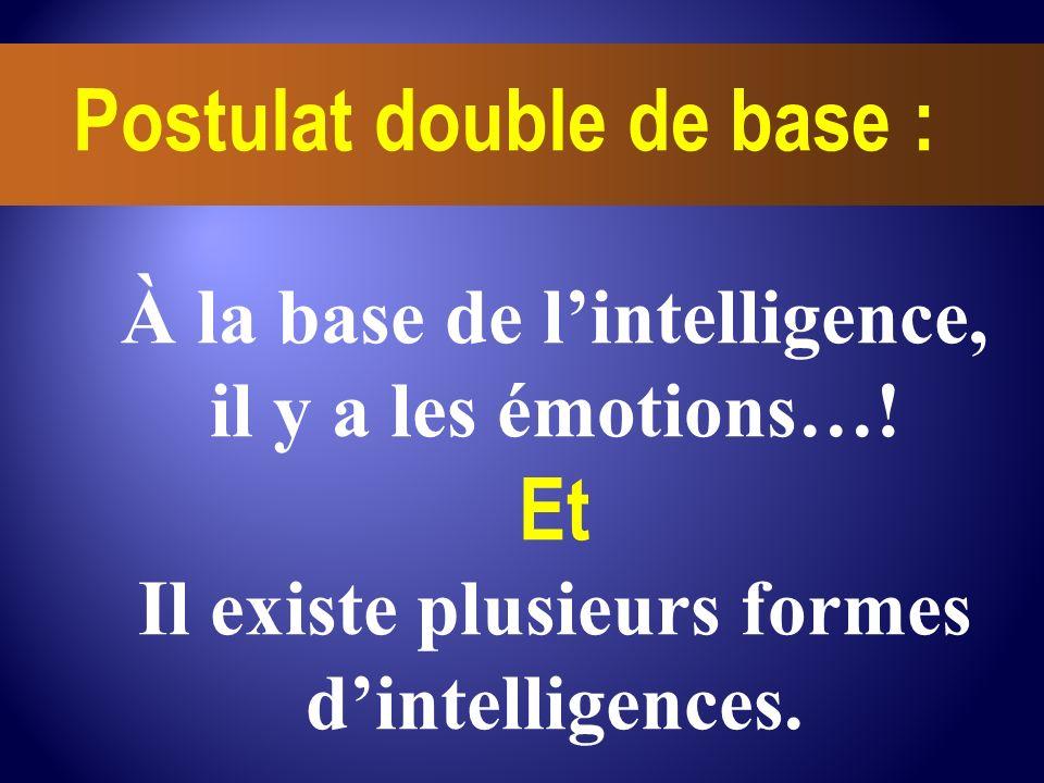 Et À la base de l'intelligence, il y a les émotions…!