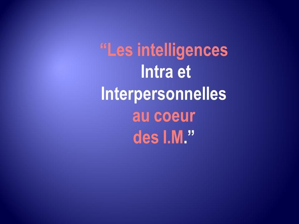 Les intelligences Intra et Interpersonnelles au coeur des I.M.