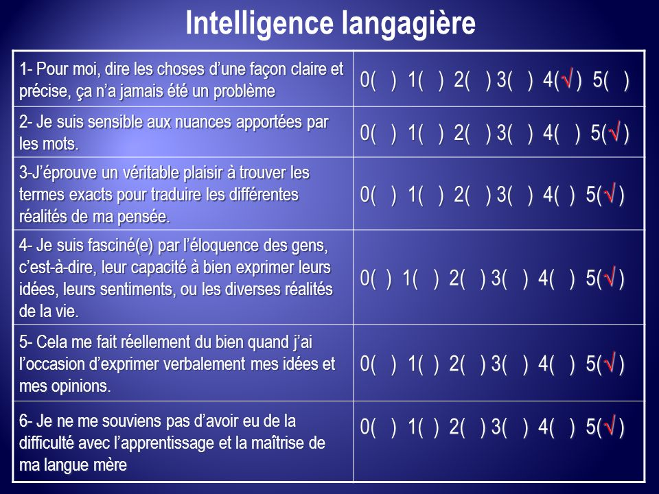 Intelligence langagière