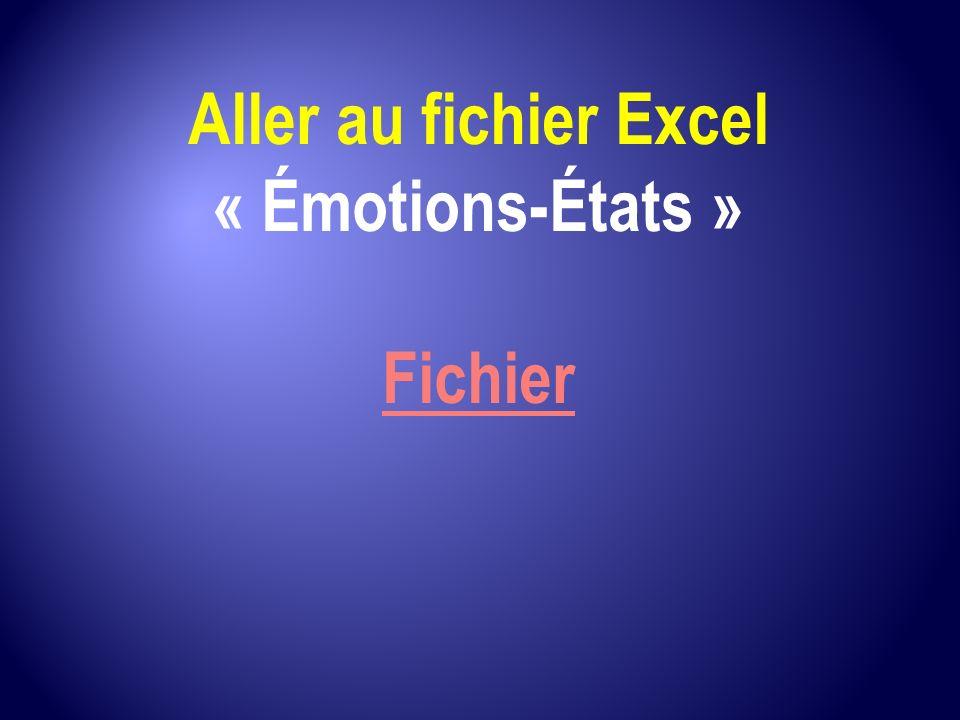 Aller au fichier Excel « Émotions-États » Fichier