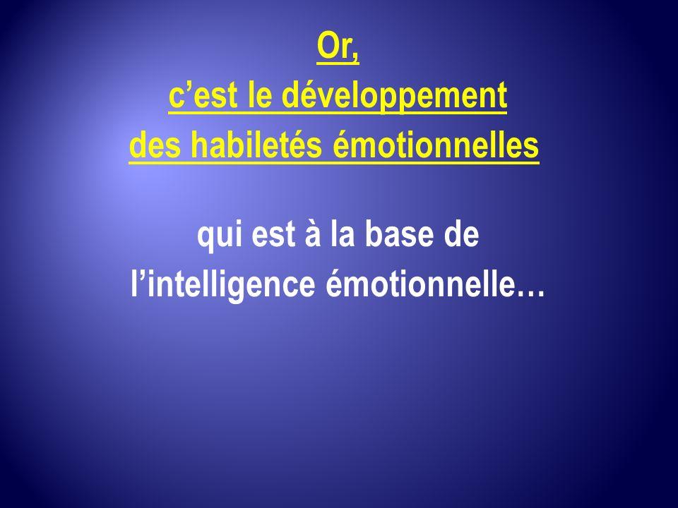 c'est le développement des habiletés émotionnelles