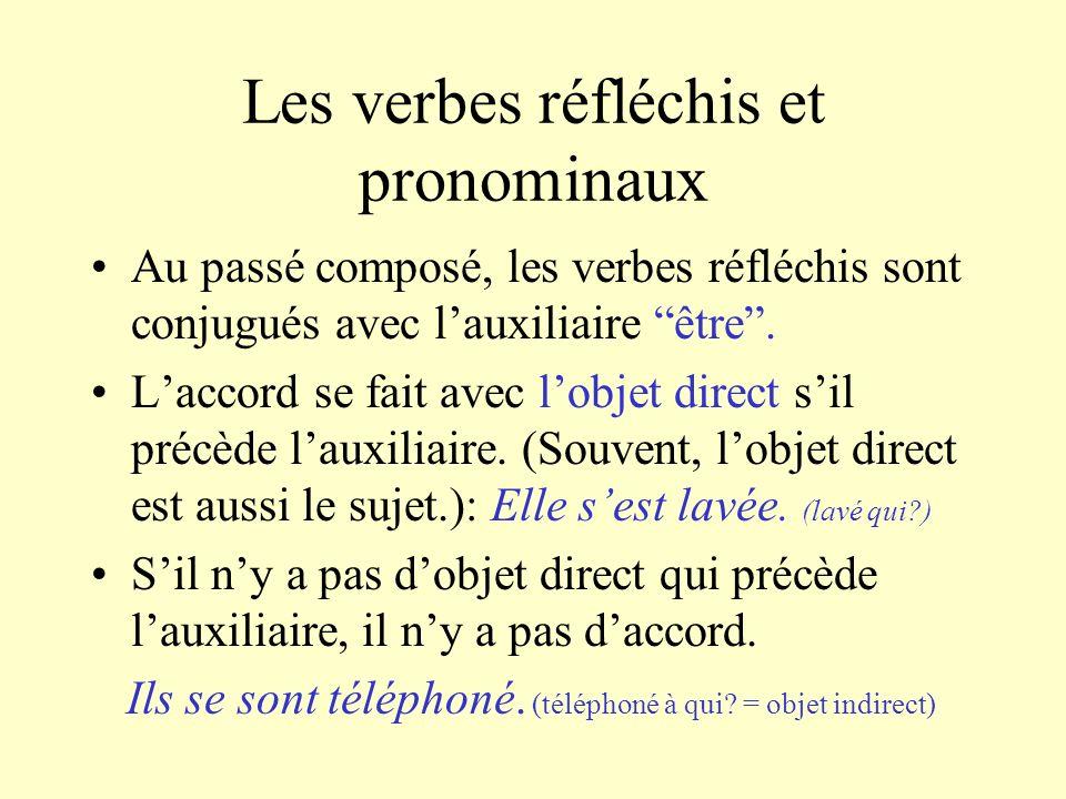 Les verbes réfléchis et pronominaux